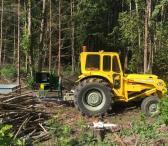 Šakų kapoklės-smulkintuvo su traktoriumi nuoma-0