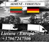 Lietuva - Akmenė - Vokietija - Lietuva ! Galime parvežti jūsų krovinius, baldus, buitine technika, motociklus, kubilus, pirtis, įrengimus, medžiagas ir t.t.  *Krovinių pervežimas tentiniais mikroautobusais / kietašoniais mikroautobusais / tentu 92m3 / 100-0