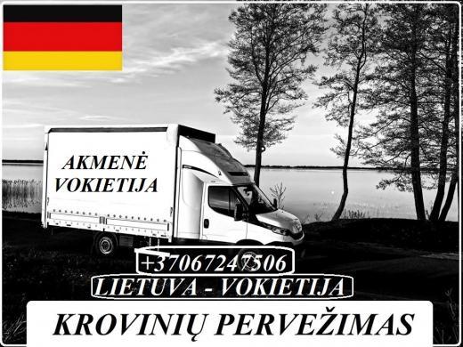 Lietuva - Akmenė - Vokietija - Lietuva ! Galime parvežti jūsų krovinius, baldus, buitine technika, motociklus, kubilus, pirtis, įrengimus, medžiagas ir t.t.  *Krovinių pervežimas tentiniais mikroautobusais / kietašoniais mikroautobusais / tentu 92m3 / 100-1