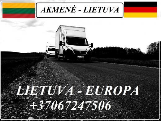 Lietuva - Akmenė - Vokietija - Lietuva ! Galime parvežti jūsų krovinius, baldus, buitine technika, motociklus, kubilus, pirtis, įrengimus, medžiagas ir t.t.  *Krovinių pervežimas tentiniais mikroautobusais / kietašoniais mikroautobusais / tentu 92m3 / 100-3