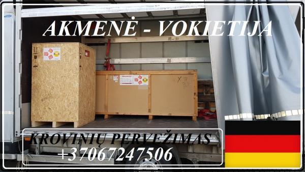 Lietuva - Akmenė - Vokietija - Lietuva ! Galime parvežti jūsų krovinius, baldus, buitine technika, motociklus, kubilus, pirtis, įrengimus, medžiagas ir t.t.  *Krovinių pervežimas tentiniais mikroautobusais / kietašoniais mikroautobusais / tentu 92m3 / 100-4