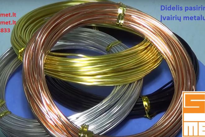 Viela, Žalvario, Vario, Aliuminio, Bronzos, Titano, Nichromo, Molibdeno ir kt.-0