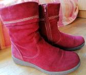 Raudoni zomšiniai batai, rudeniniai, pavasariniai-0