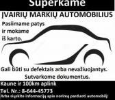 Sąžiningas automobilių supirkimas visoje lietuvoje !  ---+37064445773------0