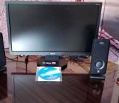 Pigiai plokščias SAMSUNG monitorius su kolonėlėmis ir instaliavimo disku-0