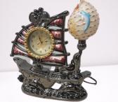 Šviestuvas - laikrodis laivas-0