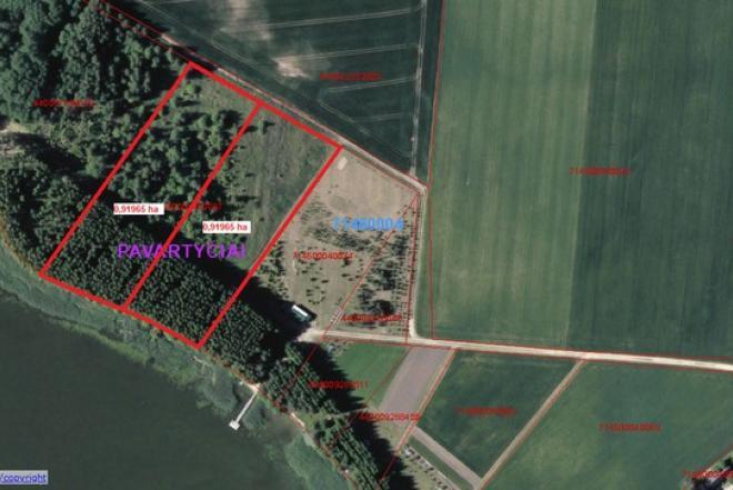 Parduodamas prie Arimaičių ežero su pakrante išskirtinis 0,91965 ha žemės sklypas.-0