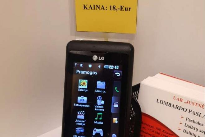 "Mobilusis telefonas ""LG KP500""-0"