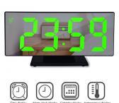 Veidrodinis LED laikrodis-žadintuvas-0