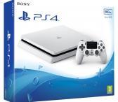 Sony Playstation 4 slim, tvarkingas, garantija, kaina- 199.99e. Komplektas, dėžė, dokumentai ps4, galiu atvezti uz sutarta kaina, su pulteliu kaina 219.99e. Su 2 pulteliu kuris turi taippat garantija kaina 249.99e. Fifa 17 10e. Fifa 18 15e. Yra ir daugiau-0