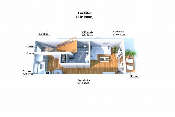 Parduodamas garažas su rekonstrukciniu projektu Palangoje!-4