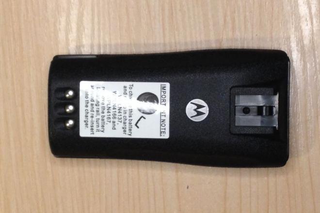 Motorola racijos ličio jonų baterija ir segtukas. Nauja-0
