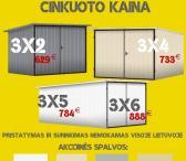 Nauji Skardiniai Garažai Nemokamas Pristatymas ir Surinkimas visoje Lietuvoje-0