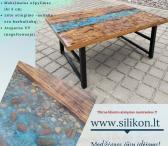 Skaidri epoksidinė derva - tinkama stalams gaminti-0