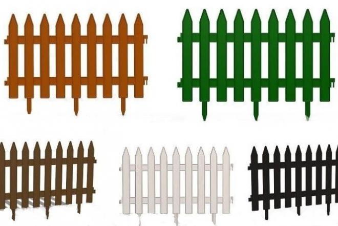 Dekoratyvinės sodo plastikinės tvorelės-0