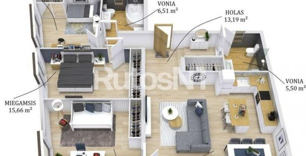 Parduodamas 4-rių kambarių butas Žiedų skg.-5