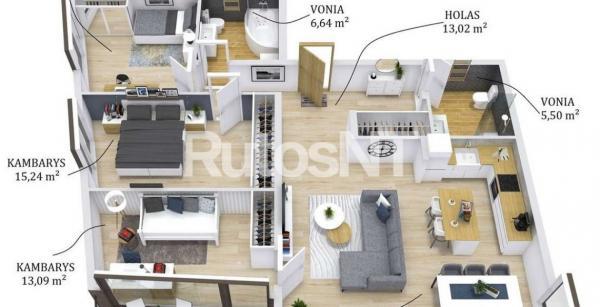 Parduodamas 4-rių kambarių butas Žiedų skg.-6