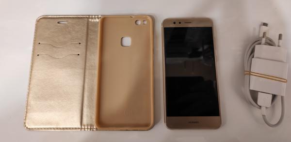 Huawei P10 Lite naudotas telefonas, kaina 60 eurų. Su įkrovikliu, geros būklės, su originalia plėvele.-0