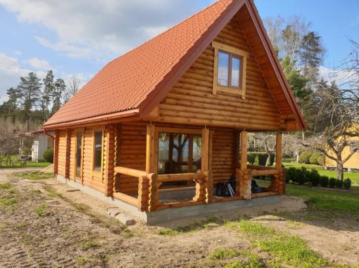 Naujos statybos rąstų namas sodyba Piliuonoje-0