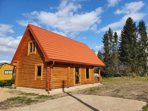 Naujos statybos rąstų namas sodyba Piliuonoje-1
