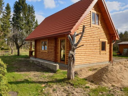 Naujos statybos rąstų namas sodyba Piliuonoje-2