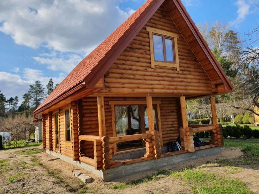 Naujos statybos rąstų namas sodyba Piliuonoje-3