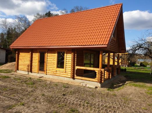 Naujos statybos rąstų namas sodyba Piliuonoje-5