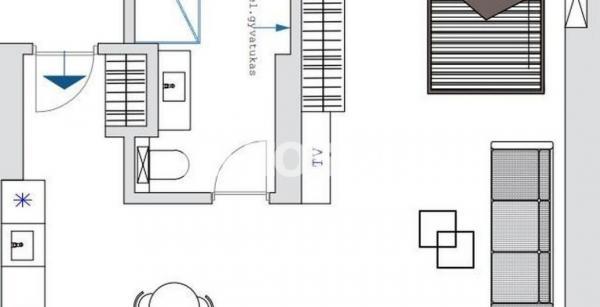 Parduodamas 2-jų kambarių butas Įgulos g.-1