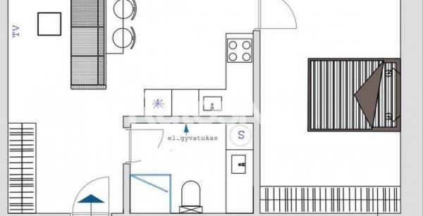 Parduodamas 2-jų kambarių butas Įgulos g.-2