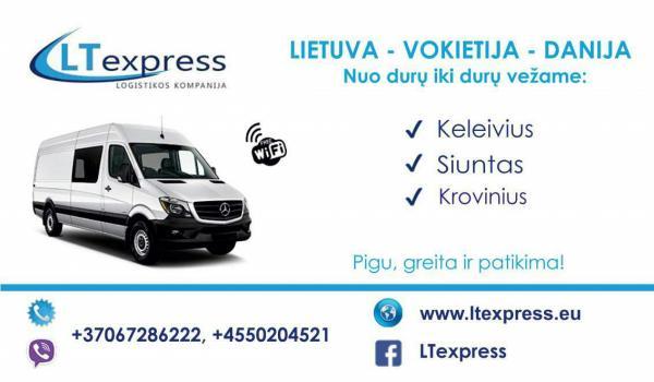 Krovinių pervežimai Lietuva - Danija - Š. Vokietija - Lietuva-0