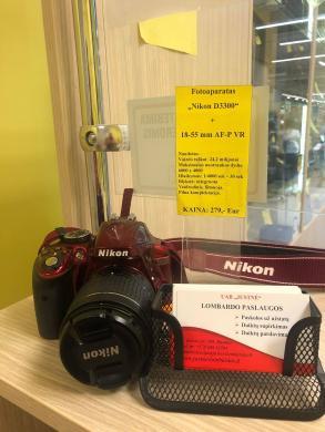 """Fotoaparatas """"Nikon D3300"""" +18-55 mm AF-P VR-4"""