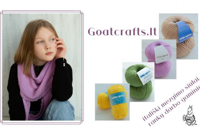 Goatcrafts – aukščiausios kokybės itališki Lana Gatto mezgimo siūlai, rankų darbo gaminiai-0