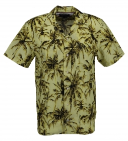 LARGE WATER COLOR PALM SHIRT S/S
