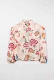 Bluse mit Vintage-Flower-Print