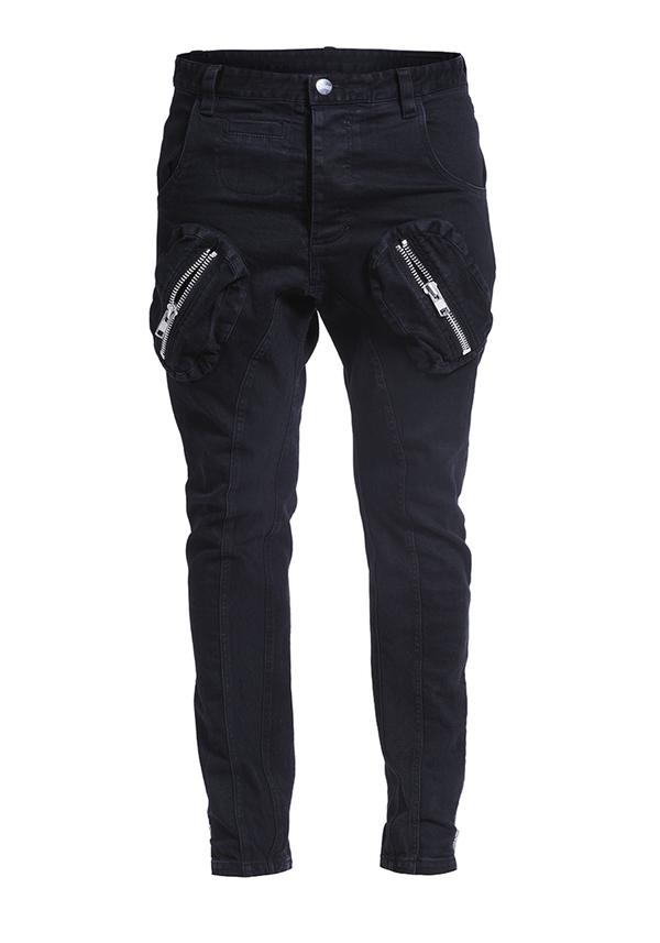 Spodnie tango united jeans zips czarne 1000 z%c5%82