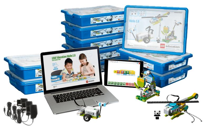 Aula LEGO Education WeDo 2.0 para 18-20 alumnos de primaria en RO-BOTICA