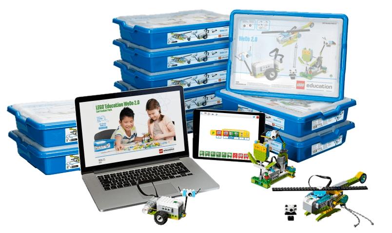 Aula LEGO Education WeDo 2.0 para 20 alumnos sin batería para primaria en RO-BOTICA