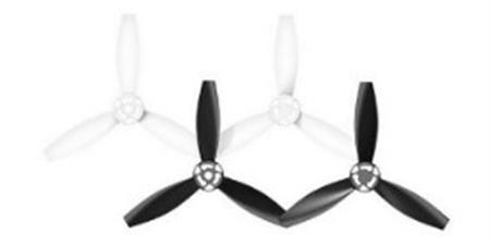 Hélices blanco y negro Drone Bebop 2