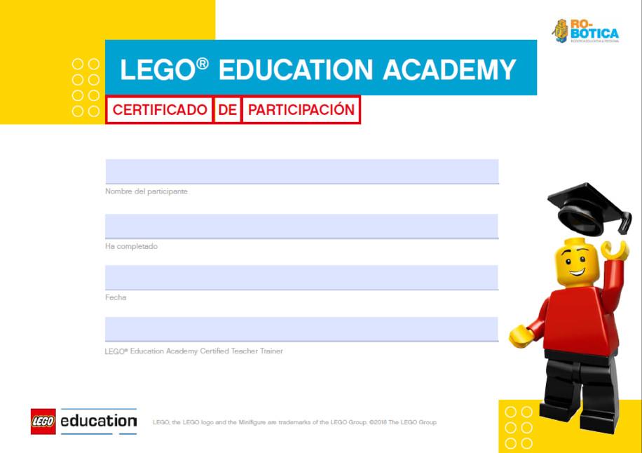 Certificado LEGO Education Academy