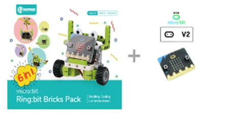 Pack Elecfreaks Ringbit Bricks Pack y placa microbit V2