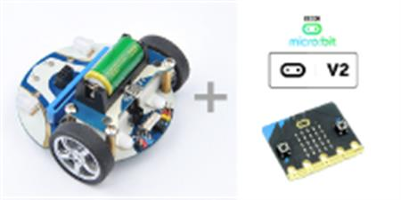 Pack Elecfreaks Smart Car Cutebot, Batería y microbit V2