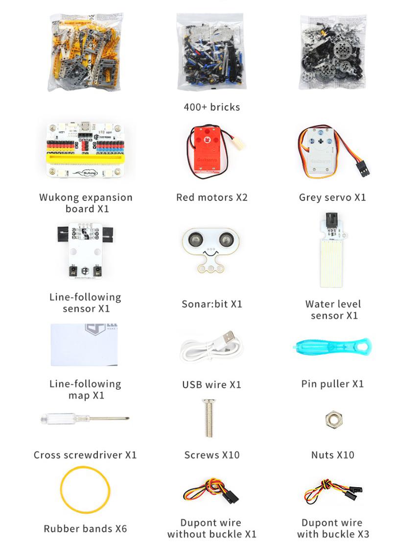contenido wonder building kit