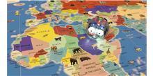 Alfombrilla Mapa del mundo para Bee-Bot y Blue-Bot