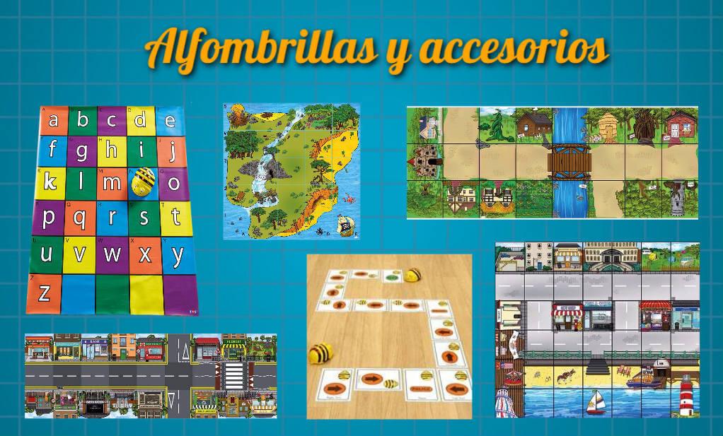 Alfombrillas y accesorios para Bee-Bot y Blue-Bot