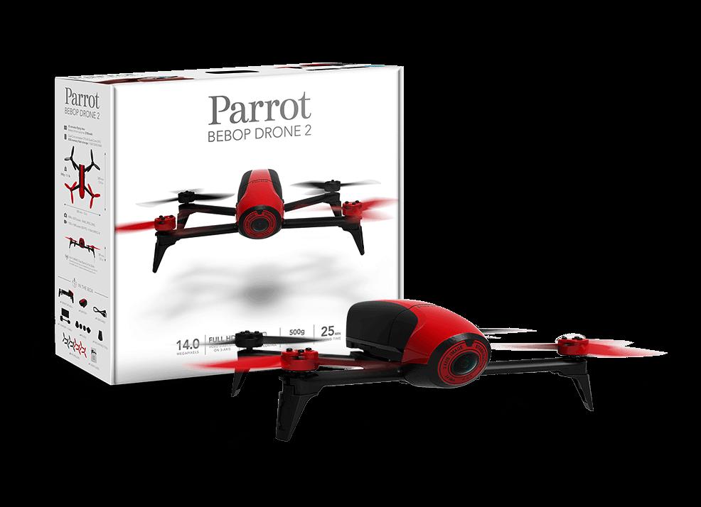 Drone Bebop 2 rojo de Parrot en RO-BOTICA tu tienda de robots voladores y educativos