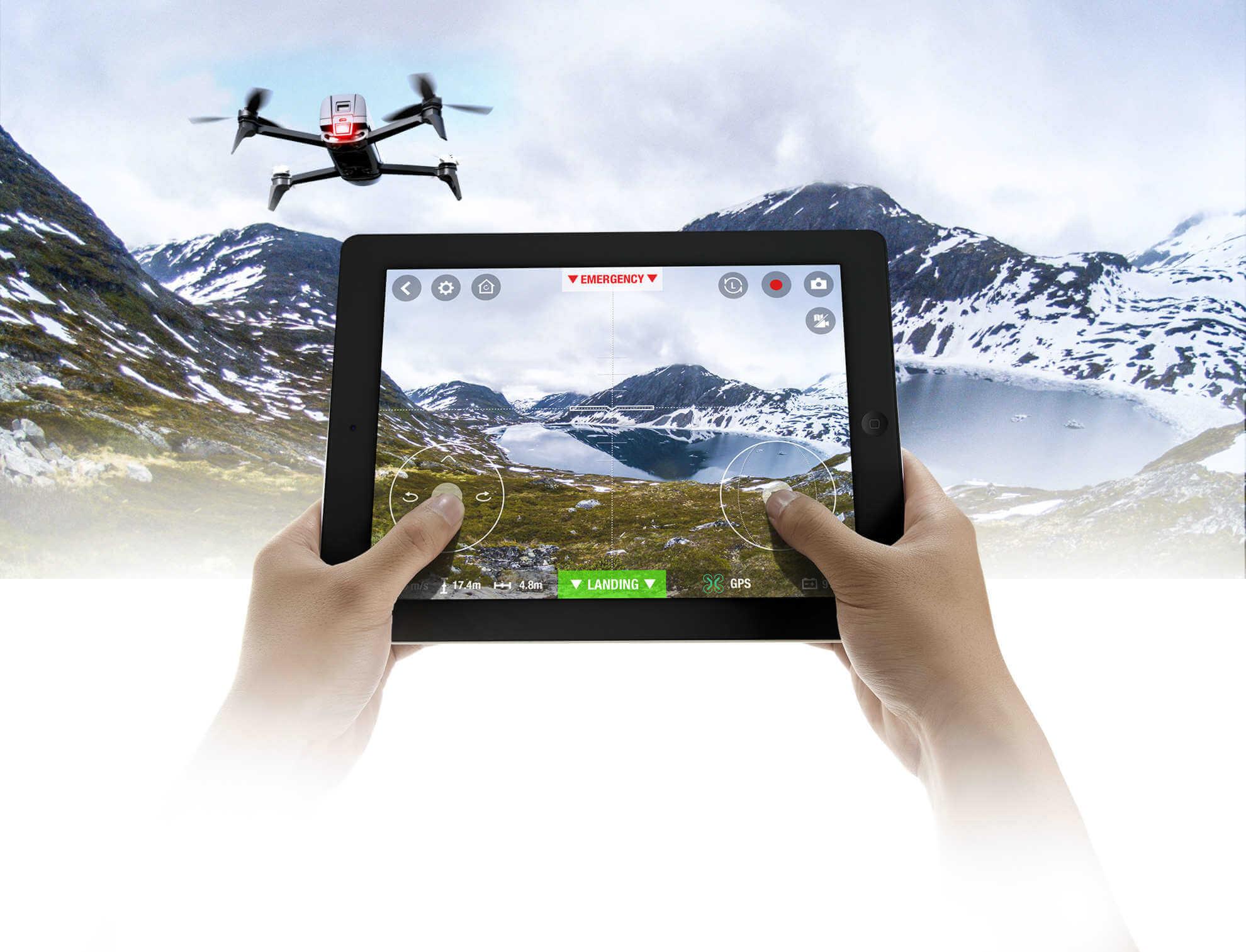 Pilota el drone Bebop 2 de Parrot por los aires