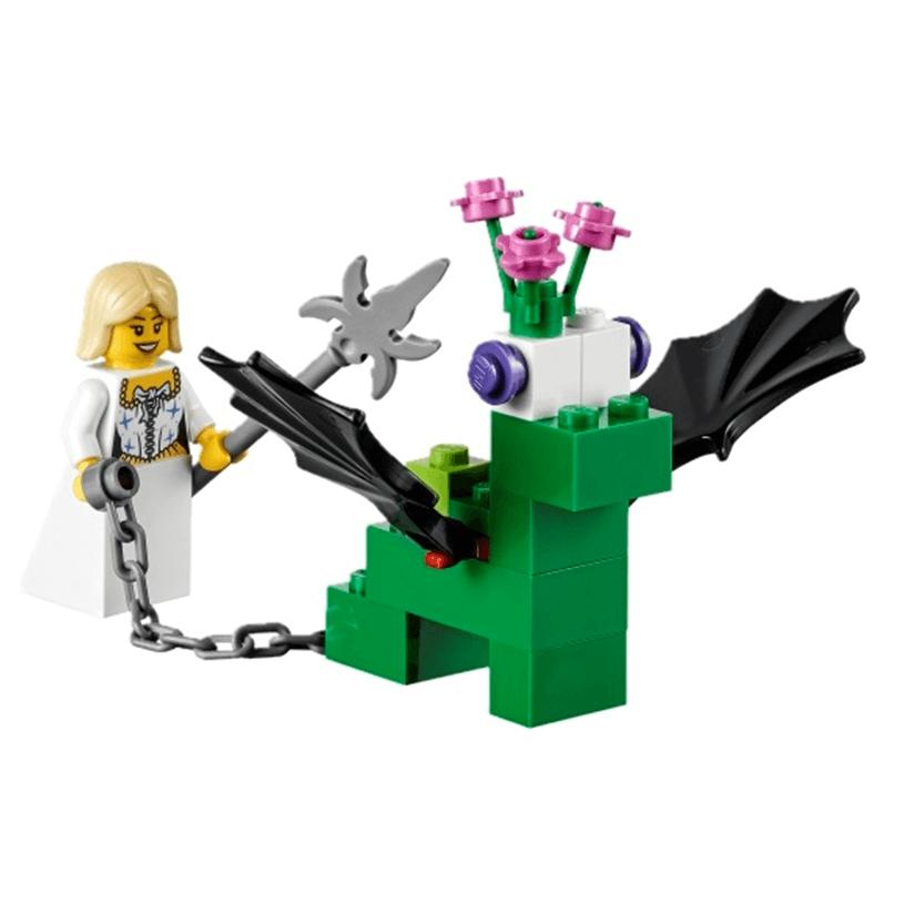 Extensión de Story Starter con cuentos de hadas de LEGO Education dragón y princesa