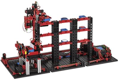 Almacén vertical automatizado de 9V con fischertechnik education en RO-BOTICA
