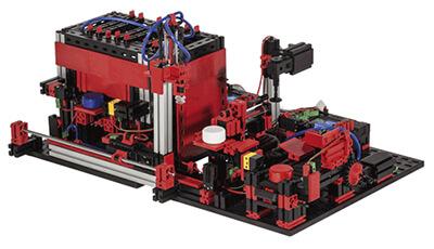 Multiestación de procesamiento de 9V con fischertechnik education en RO-BOTICA