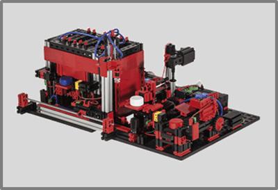 Multiestación de procesamiento 9V con fischertechnik education en RO-BOTICA